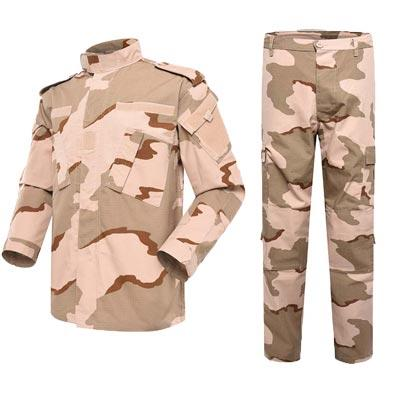 Military uniform ACU three colors desert camouflage TC 65/35 210GSM for Middle-East country MFXX02