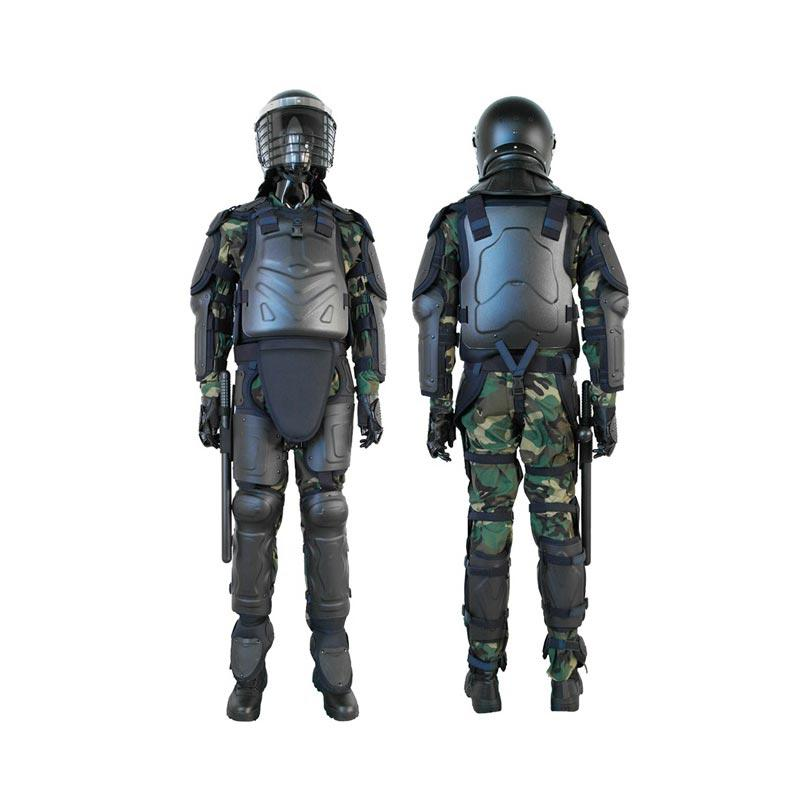 POLICE USE SAFETY PROTECTIVE BLACK COLOR ANTI-RIOT SUIT-FBF-01