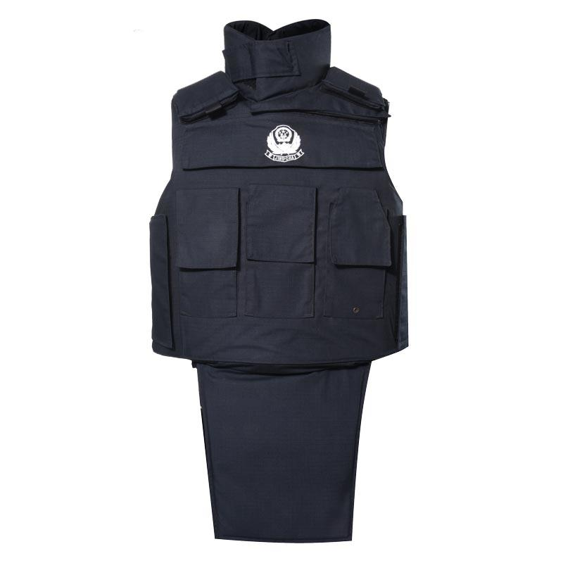 Black full protection bulletproof vest police full body armor ballistic jacket of BVXX-02