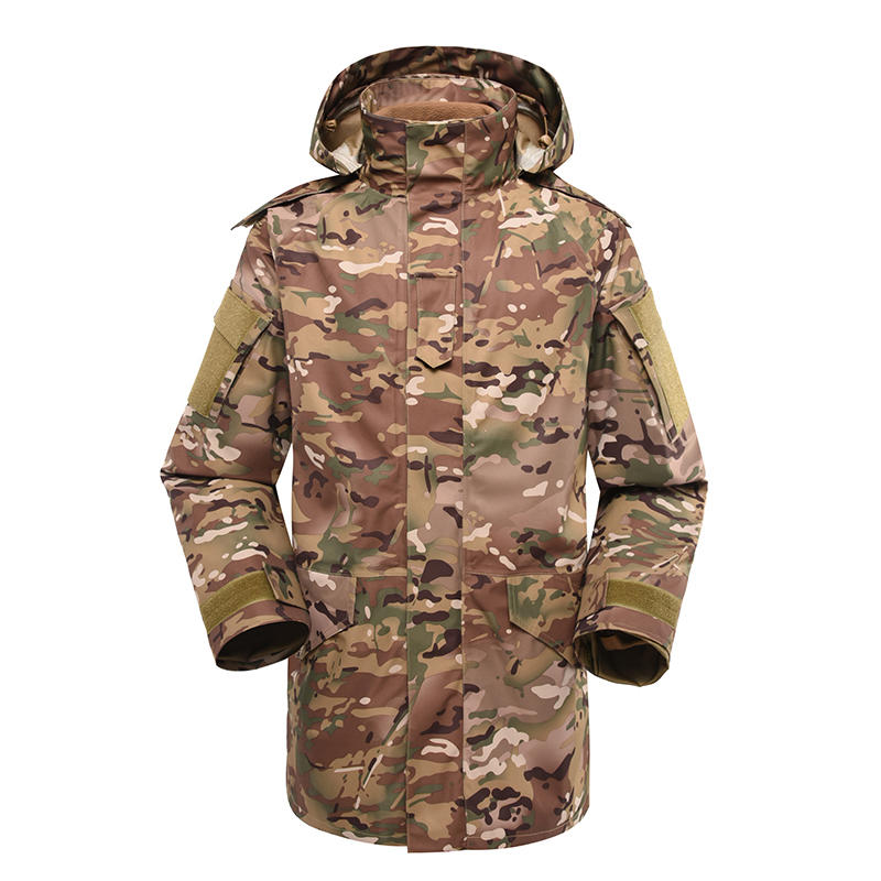 Multicam military winter fleece jacket for soldier MJ01