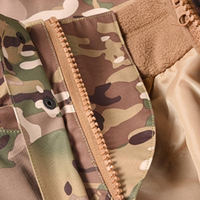 Multicam military winter fleece jacket for soldier MJ01