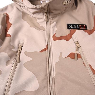 Three Desert Camouflage military winter fleece jacket for soldier MJ04
