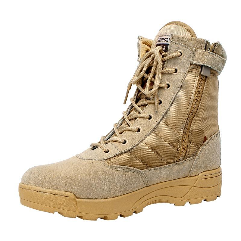 Desert camo suede leather oxford military boots for men hiking boots men's boots army MB08