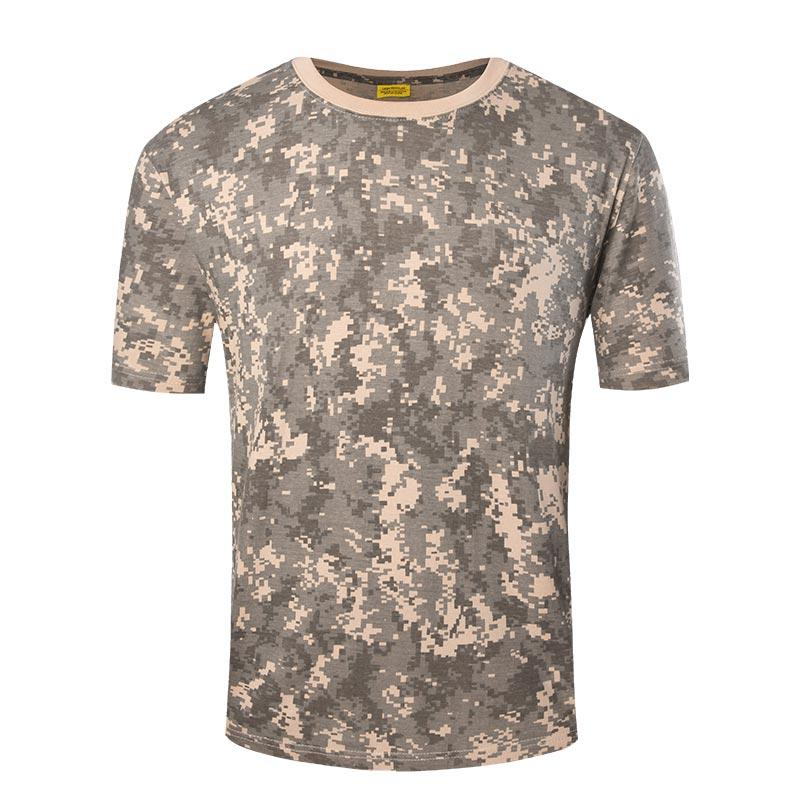 Army digital desert camo color short sleeves round neck 100% cotton T shirt