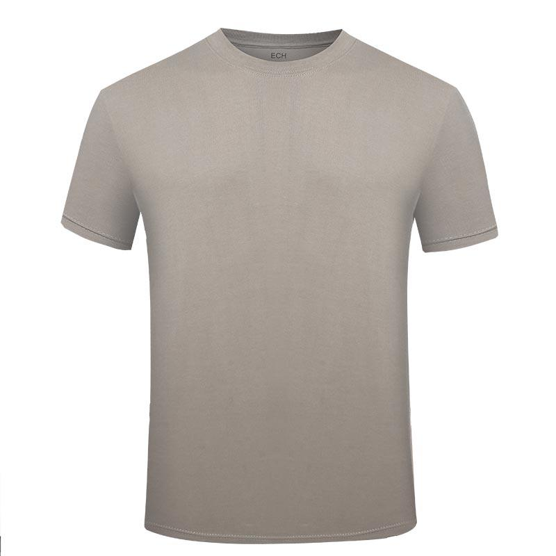 Army grey color OEM available factory price short sleeves cotton material T shirt