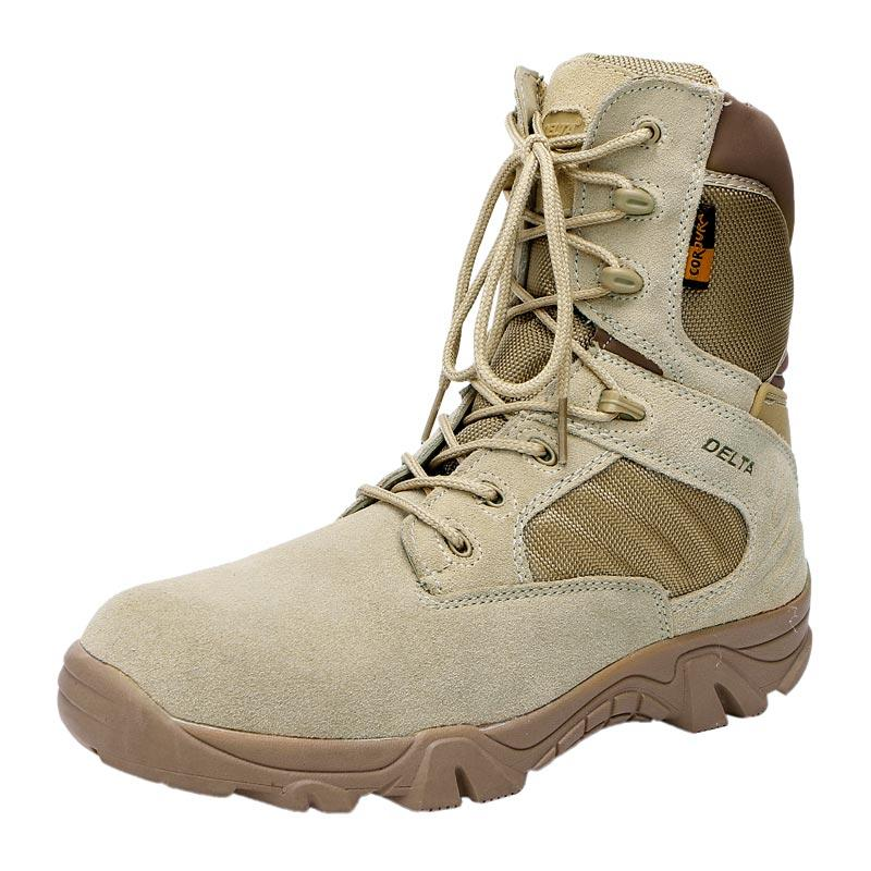 Desert color tactical men boots suede leather rubber sole army boots military army combat boots MB11