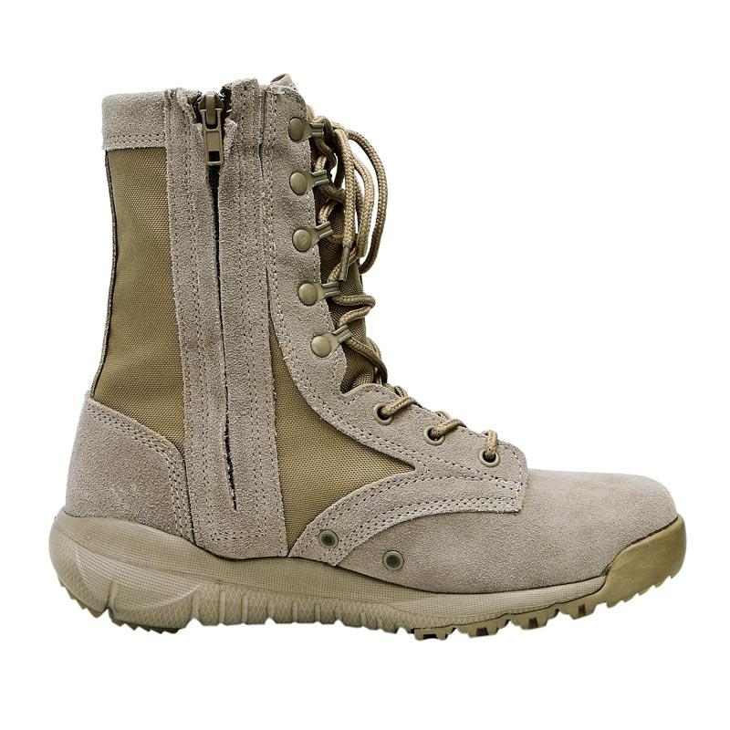 Rubber outsole genuine leather desert military boots for men hiking boots MB12