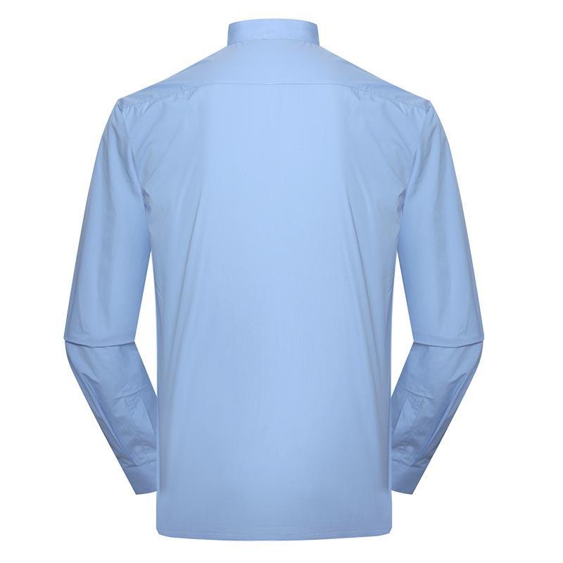 Military officer light blue color one pocket boat neck long sleeves shirt