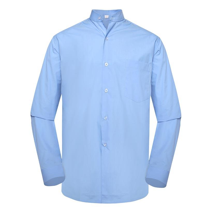 Military officer light blue color one pocket boat neck long sleeves shirt