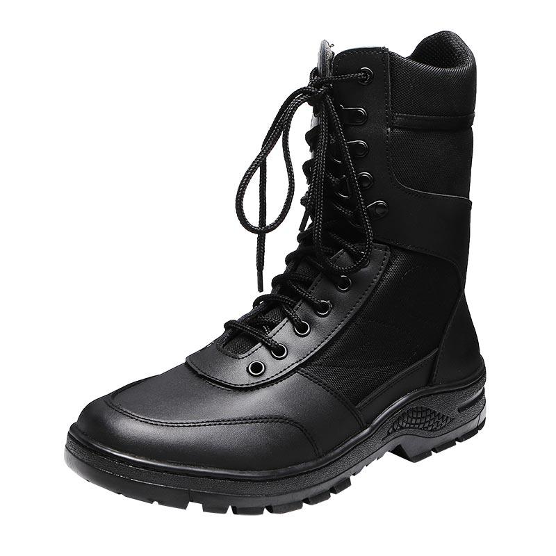 Leather combat boots army for men with oxford fabric GZ XINXING MB06