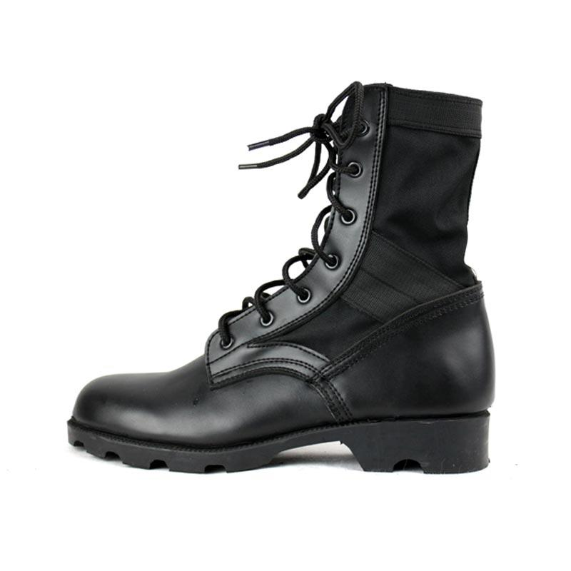 Oxford fabric genuinie leather jungle boots military men boots  MB07