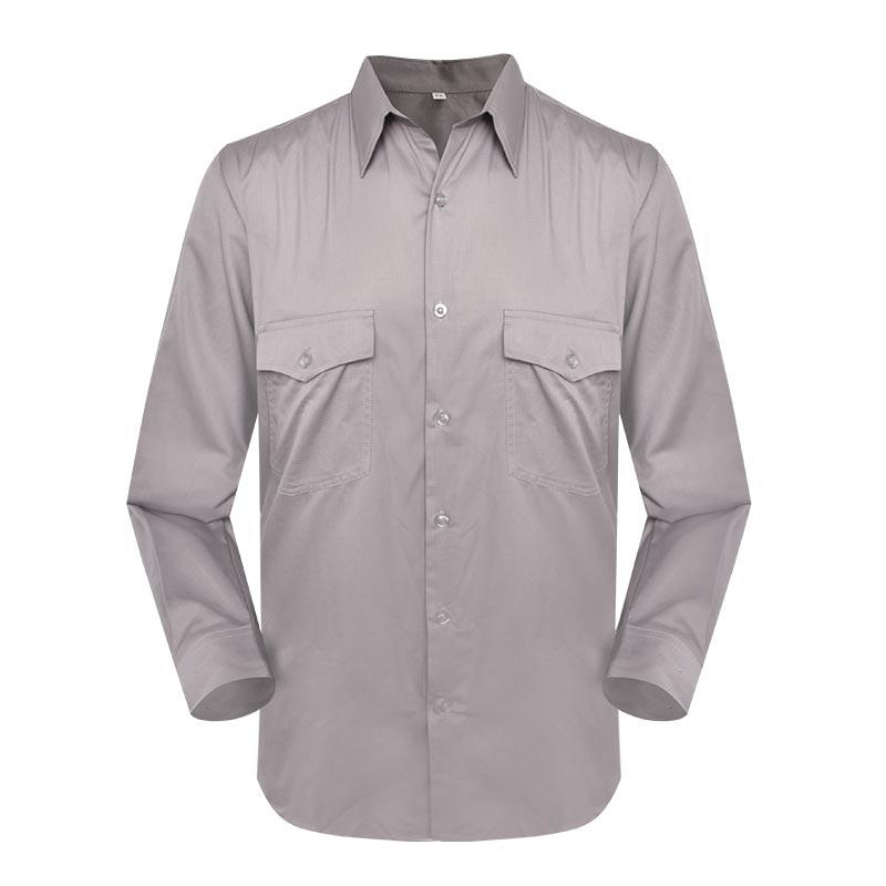 Army officer grey color two pockets TC 6535 long sleeves officer shirt