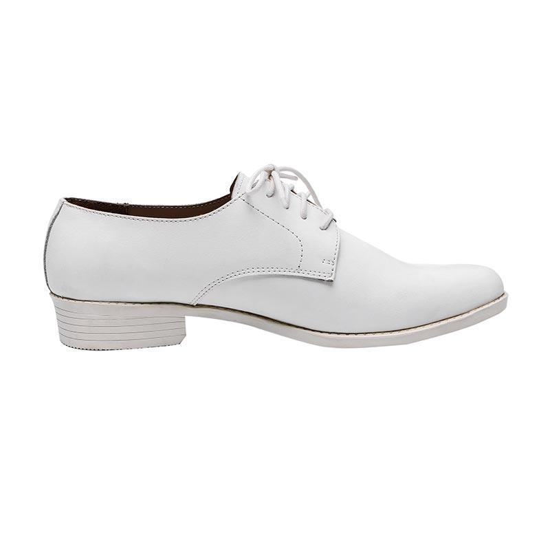 White gunuine leather rubber outsole men's officer Leather shoes LS02