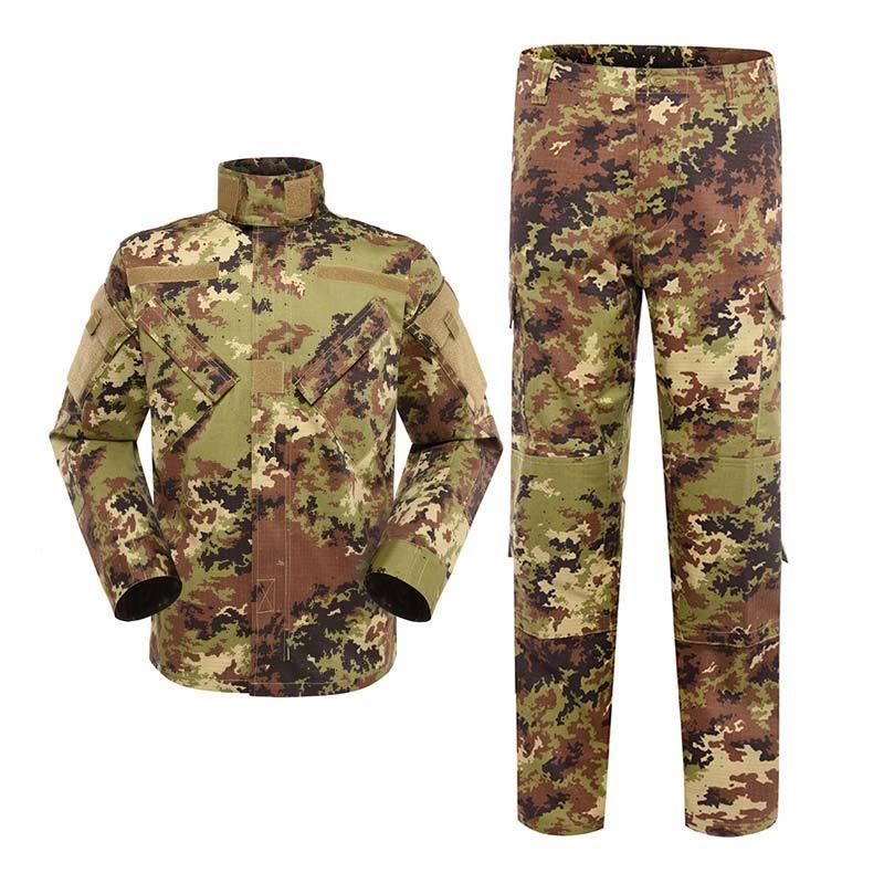 Military uniform Army Combat Uniform Model ACU Color Italian Vegetato Camouflage For Military Solider MFXX12