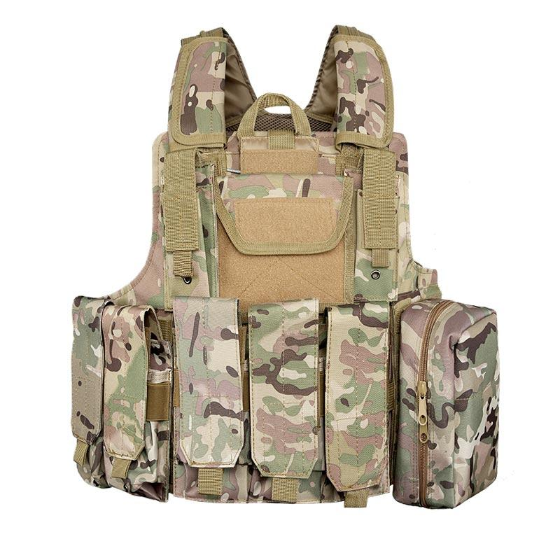 600D Polyester Multifunctional Fast Release Military Tactical Vest with Magazines First Aid Kit Pouches TV02