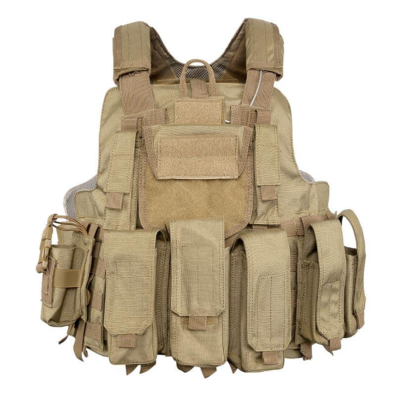 1050D Nylon Multifunctional Fast Release Military Tactical Vest with Magazines First Aid Kit Pouches TV34