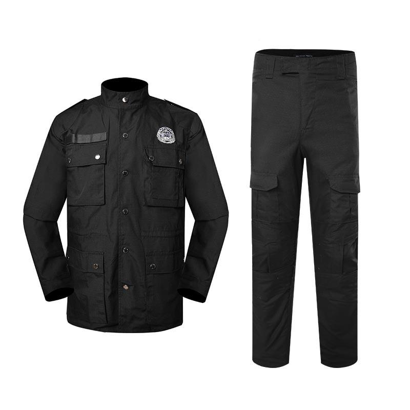 Police uniform black color TC 65/35 210GSM PUXX05