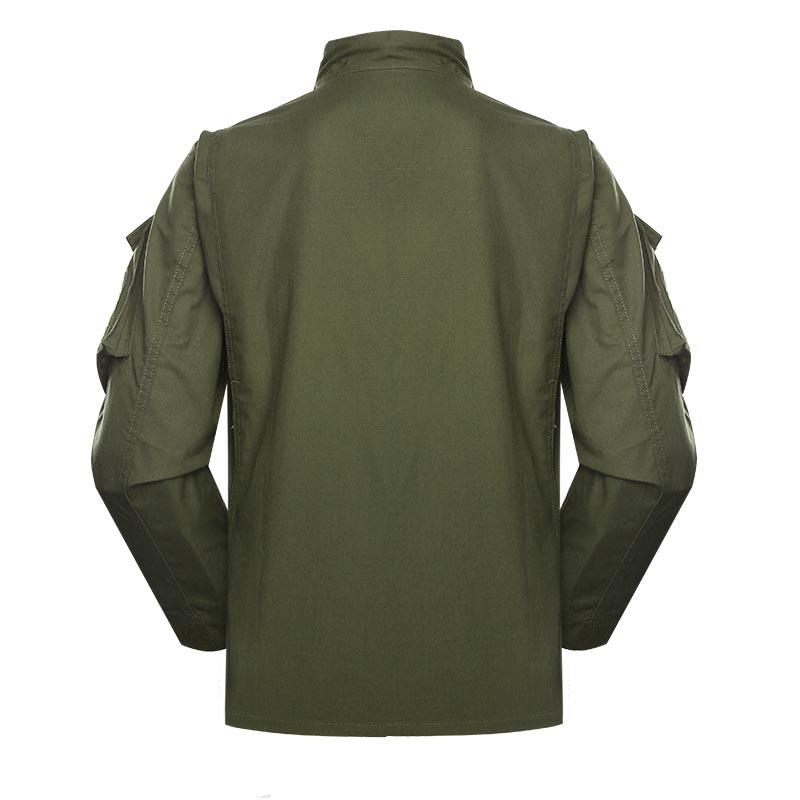 Police uniform military green color CVC 50/50 220GSM PUXX04