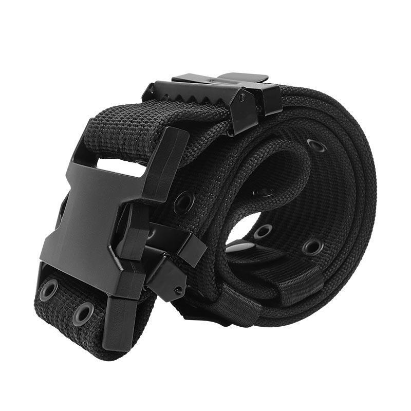PP Webbing Black Military Tactical Uniform Belt RB08