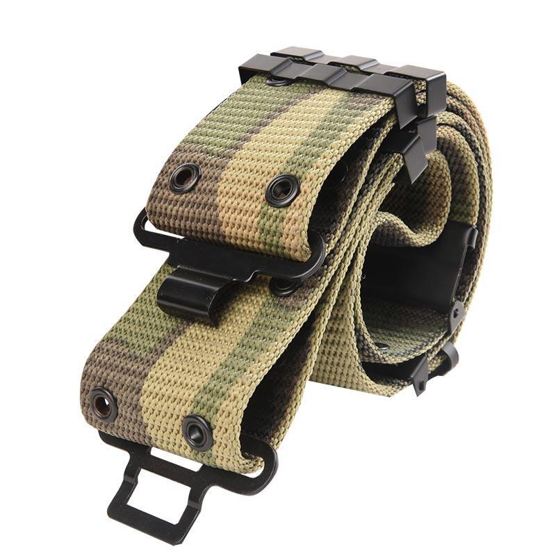 Woodland Camouflage PP Webbing Military Belt for Uniform RB16
