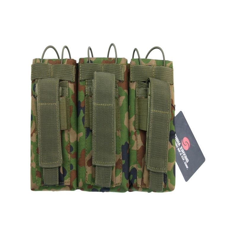Triple jungle camouflage combat army molle maganize mag pouch military pouch for AK M4 of ABXX01