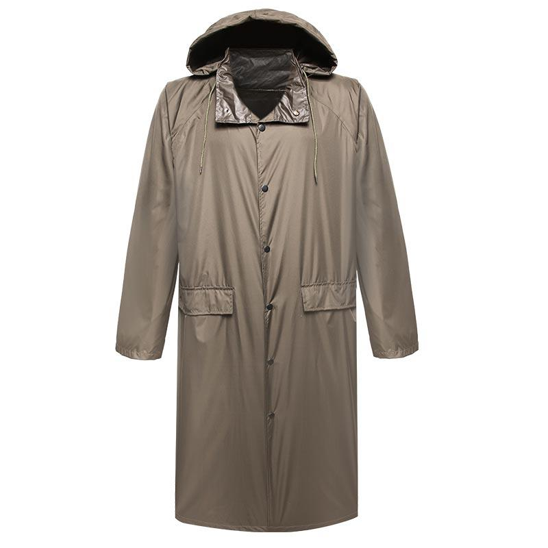 Military 210T polyester taffeta with PU coating raincoat PRXX05