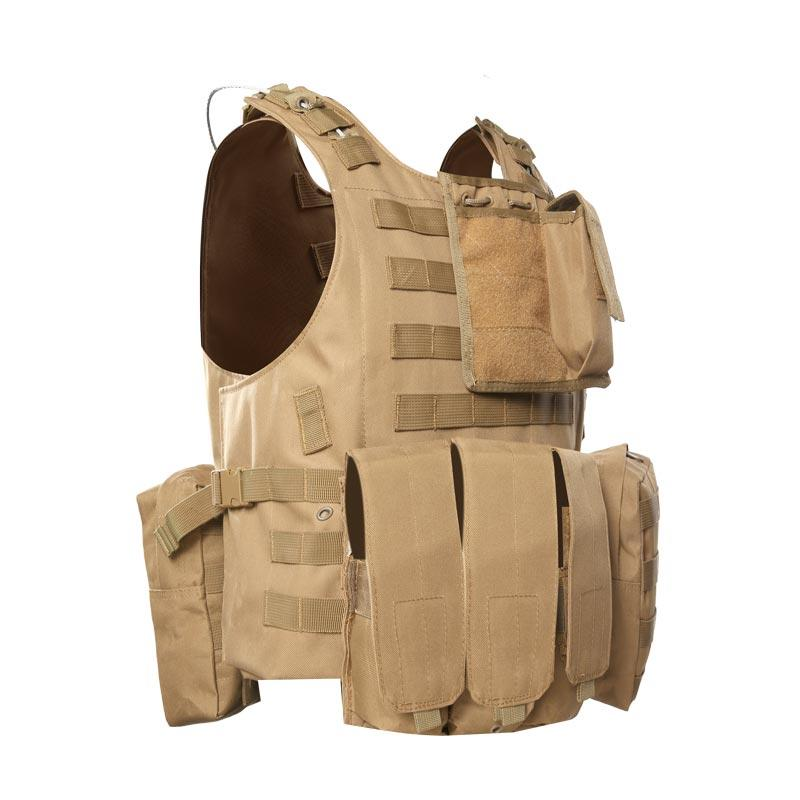 Quick release tactical molle system military aramid bulletproof vest of BVXX-07