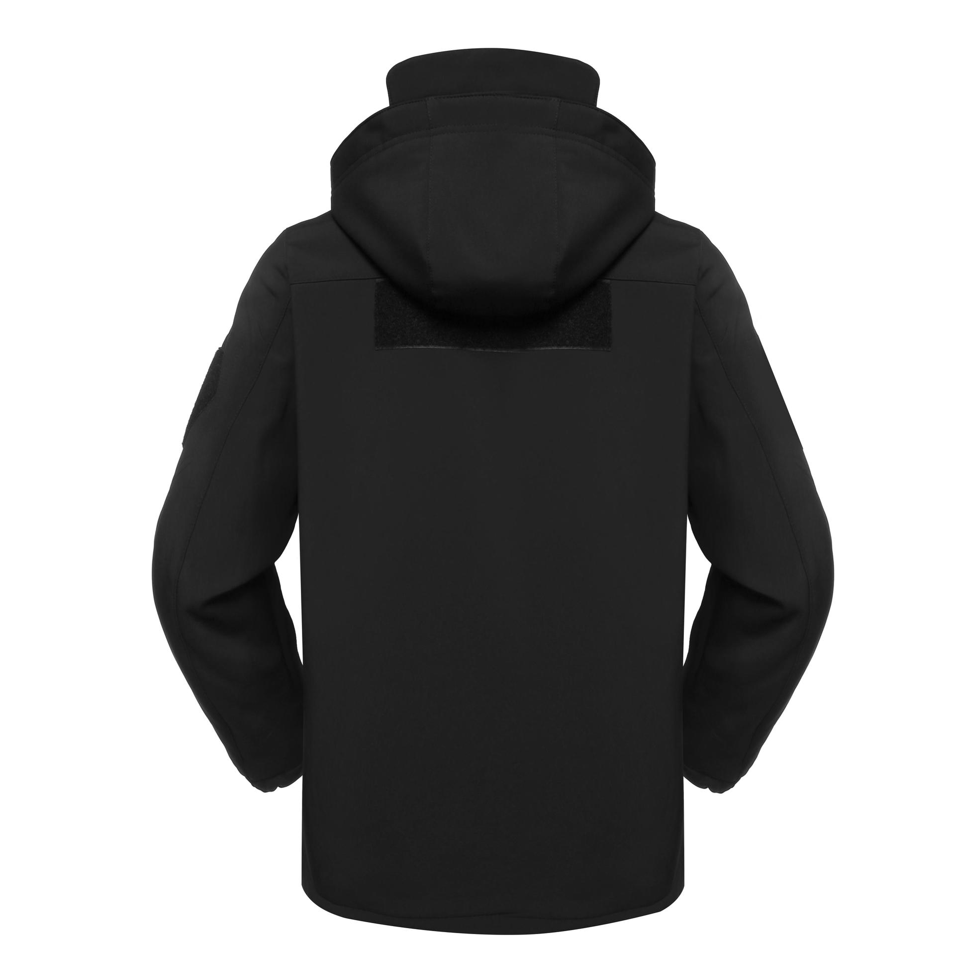 Black military fleece jacket for outdoors MJ06