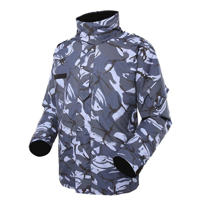 Navy Blue Camouflage Camouflage military winter fleece jacket for soldier MJ05