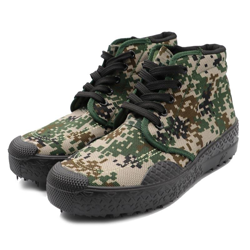 Camouflage color military canvas shoes 003