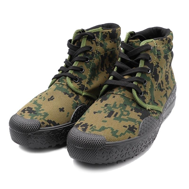 High quality camouflage color military canvas shoes 004