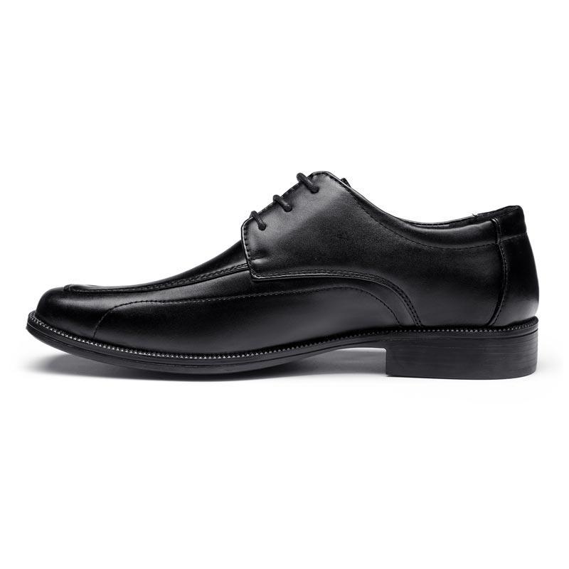Black split leather soft military office shoes official shoes for men men's dress shoes LS03