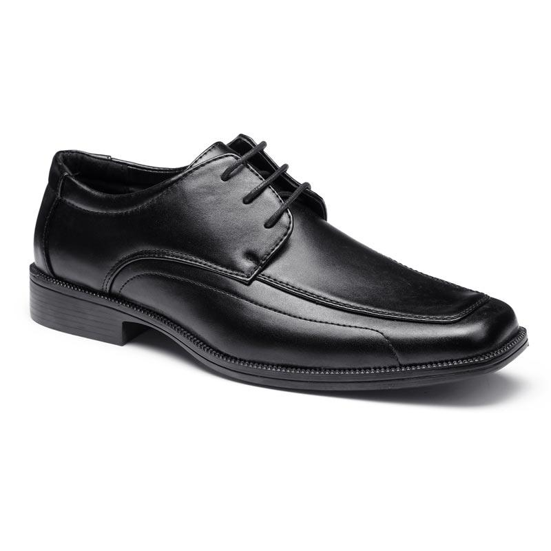 Black split leather soft military office shoes official shoes for men men's dress shoes LS03