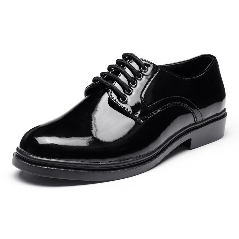 Polished genuine leather men's dress shoes genuine leather officer leather shoes dress shoes men LS04