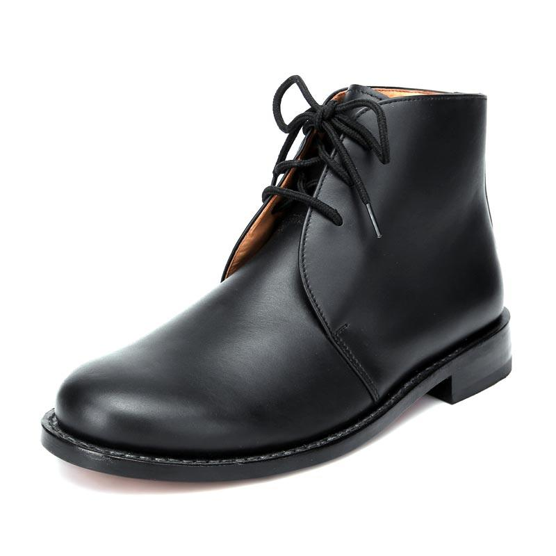 Genuine leather outsole official boots for men officer leather shoes ankle boots for men LS05