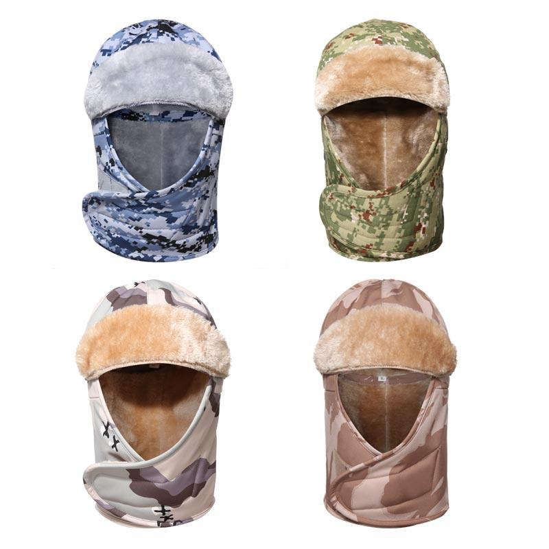 Camouflage army polyester and faux fur ushanka russia army winter hat ushanka hat MAXX06