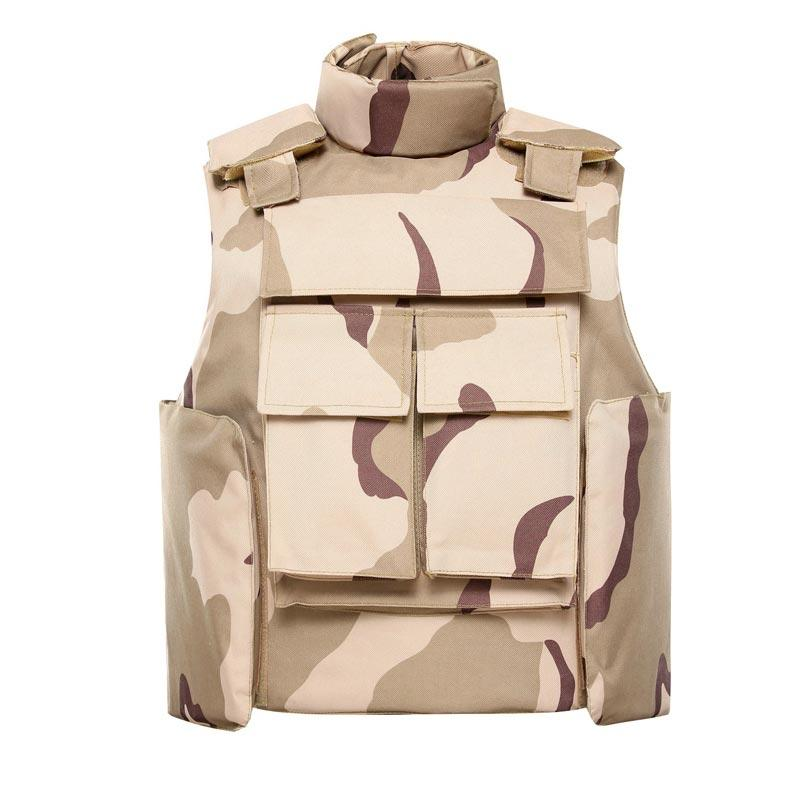 Desert Camouflage bulletproof vest Body armor Neck and Shoulder protection ballistic jacket of BVXX-13