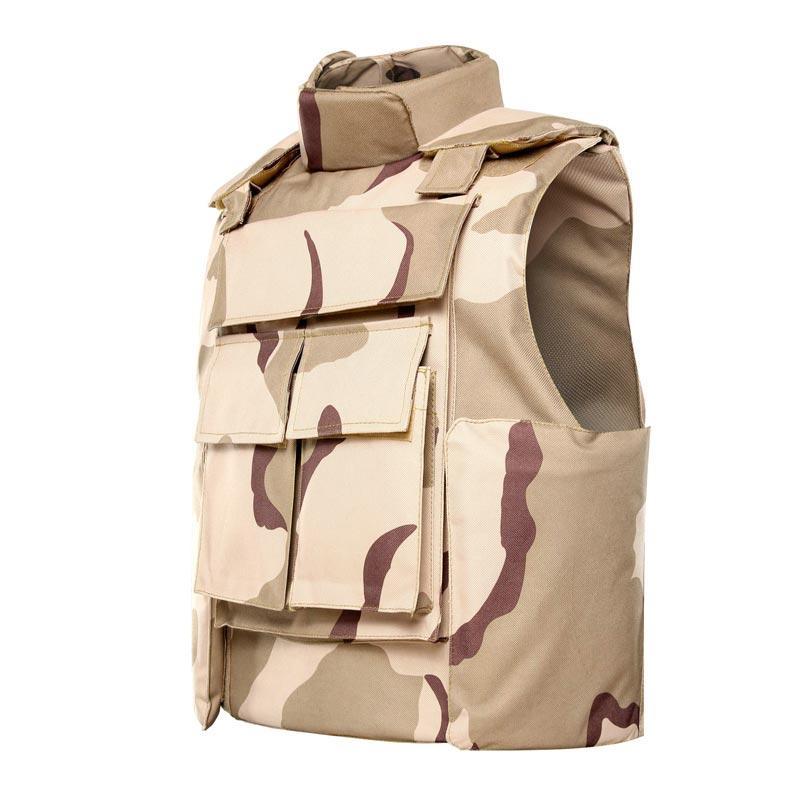 Desert Camouflage bulletproof vest Body armor Neck and Shoulder protection ballistic jacket of BVXX-13