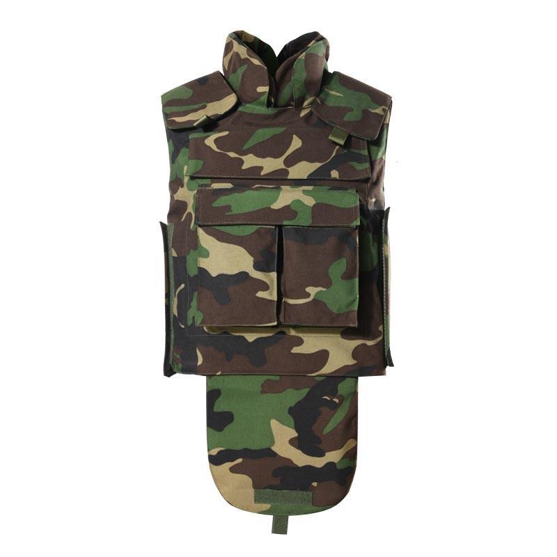 Kevlar or PE NIJ IV custom full body armor vest camouflage bulletproof vest army ballistic jacket BVXX-11