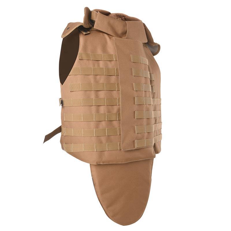 KhakibulletproofvestbodyarmorneckandgroinprotectionballisticjacketofBVXX-12