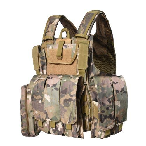 Protection NIJ IIIA level Multicam camouflage tactical bulletproof vest