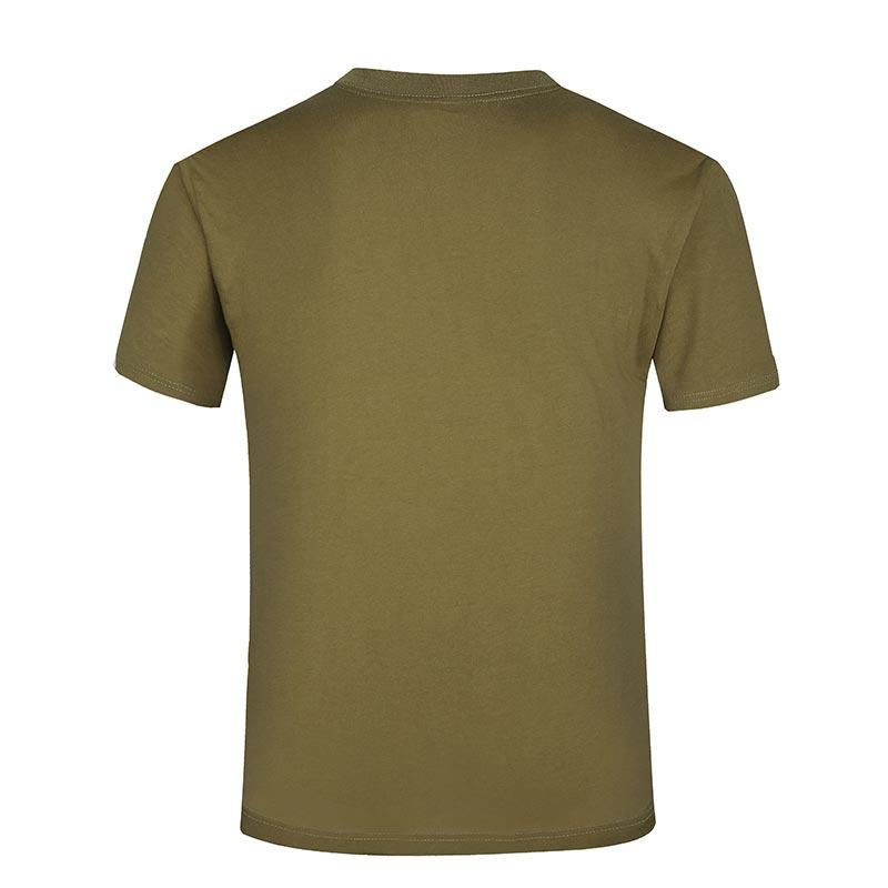 Olive green color cotton round neck soft material T shirt TSHIRT09