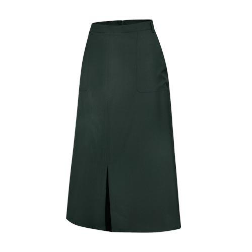 Military Olive green woolen material officer woman skirt