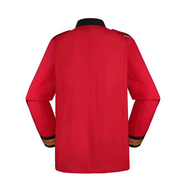 TR65/35 190GSM STAND UP COLLAR RED COLOR OFFICIAL SUIT OSXX-01