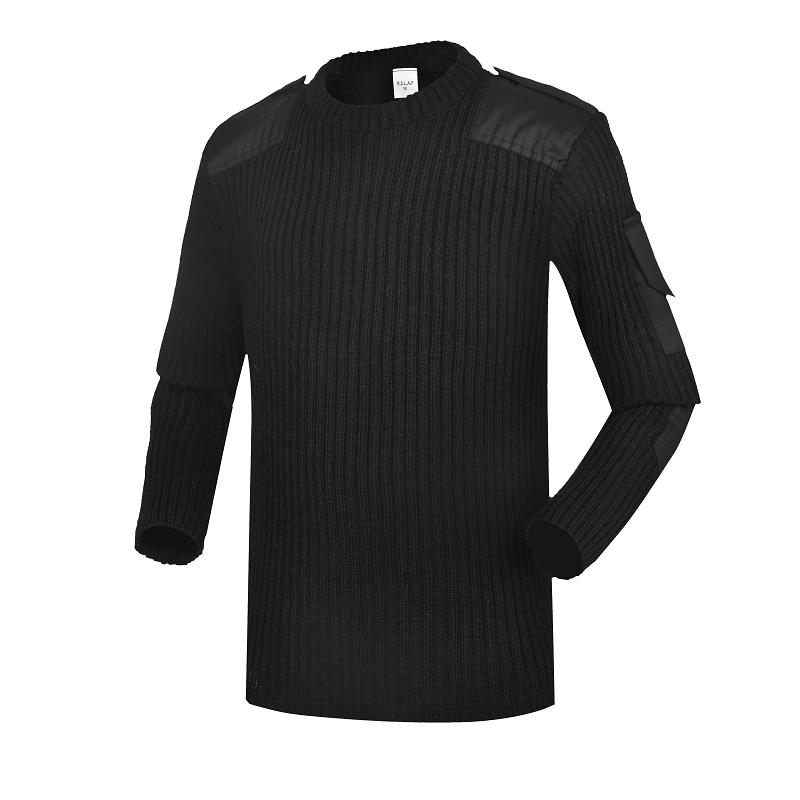 Police black wool military clothing wholesale custom army uniforms army sweater CXGZSW-11