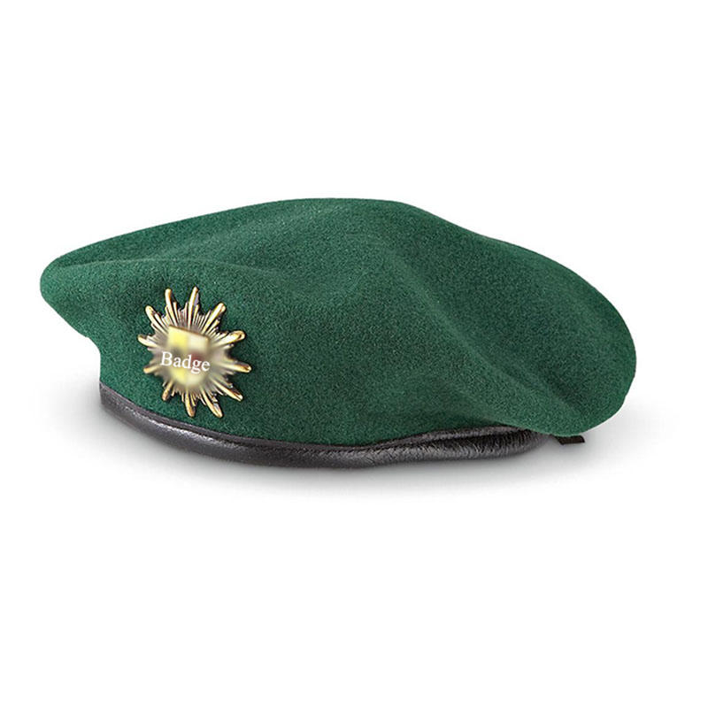 Wool Military Berets Caps Wholesale Beret With Custom Label Badge  Of MAXX01
