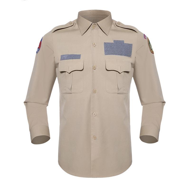 Official Shirt Khaki TR 250 GSM for Cambodian Immigration Deparment OSXX01