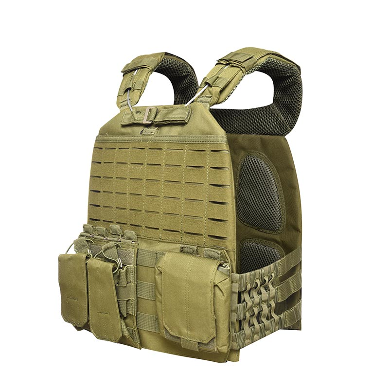 Tactical Vest 600D Polyester Oxford Olive Green Yemen Army GXTV-01-4