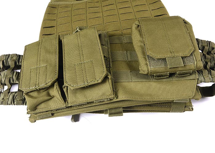 Tactical Vest 600D Polyester Oxford Olive Green Yemen Army GXTV-01-7