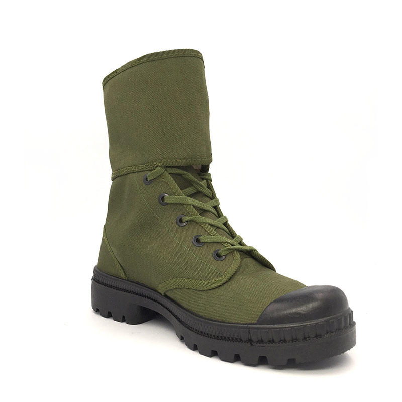 High quality 100% cotton upper military army training combat boots canvas shoes
